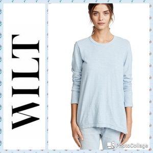 NWOT. Wilt Blue Asymmetrical Tunic